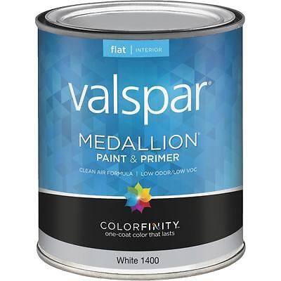 Valspar Medallion Acrylic Paint & Primer Unreserved Interior Wall Paint, White, 1 Qt.