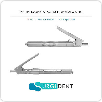 Intraligamental Syringe 1.8ml Pen Style Dental Instruments Set Of 2