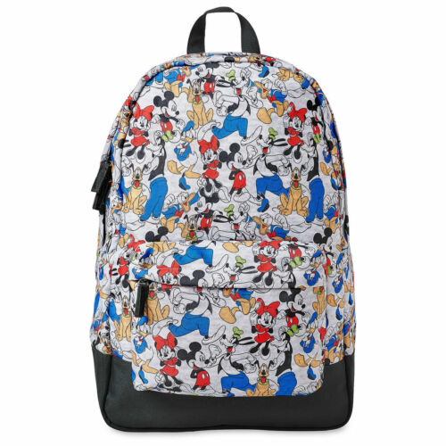 NWT Disney Store Mickey Mouse Backpack School Adult Minnie, Goofy, Donald, Pluto