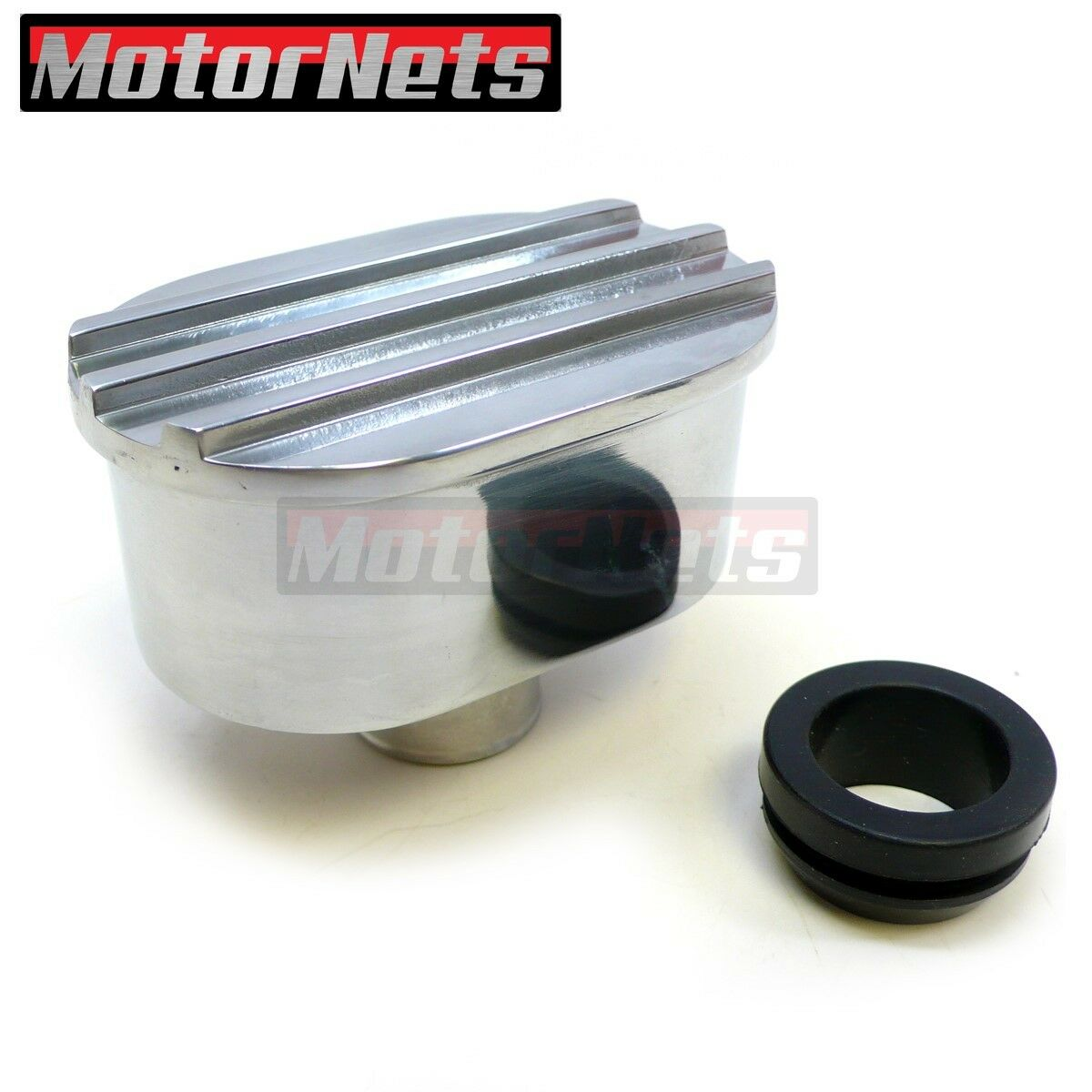 Ford Chevy Finned Polished Aluminum Valve Cover Breather New Pair 2