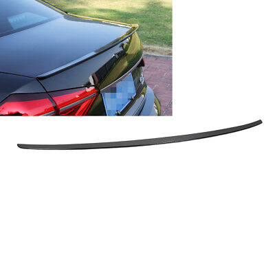 Painted Black Rear Spoiler Wing Trunk Lip Trim For VW Passat B7 12-18 USA Style