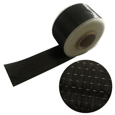 12K 10cm*500cm Black Carbon Fiber Cloth Fabric UNI-Directional Weave for sale  Shipping to Ireland
