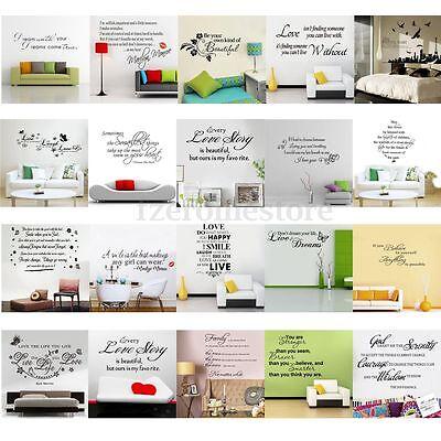 Pegatina de Paredes Vinilo Hogar Art casa Wall Sticker Decoración Sala de Estar