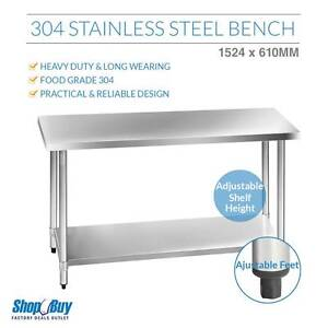 Free Delivery: Stainless Steel Kitchen Work Bench Food 304 Prepa Parramatta Parramatta Area Preview