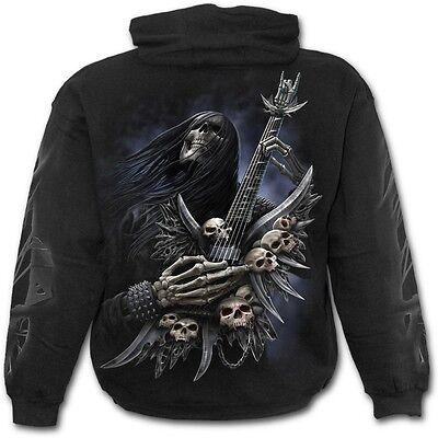Spiral Direct ROCK ON - Hoodie Black Dragon/Metal/Biker/Biker/Guitar/Gothic