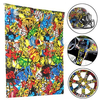 Colorful Skulls Pva Hydrographic Water Transfer Printing Hydro Helmet Film