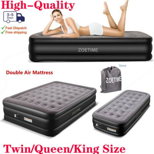 Zoetime Queen Siz Air Mattress Airbed Inflatable Bed with Bu