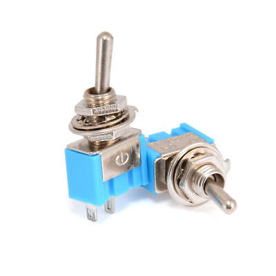 5pcs 2-pin Spst On-off 2 Position 250vac Mini Toggle Switches Mts-101 Blue