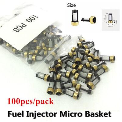 100X Fuel Injector Micro Basket Filter Universal For ASNU03C Injector Repair Kit