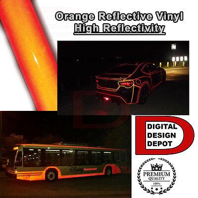Orange Reflective Vinyl Adhesive Cutter Sign Hight Reflectivity 12 X 5 Ft