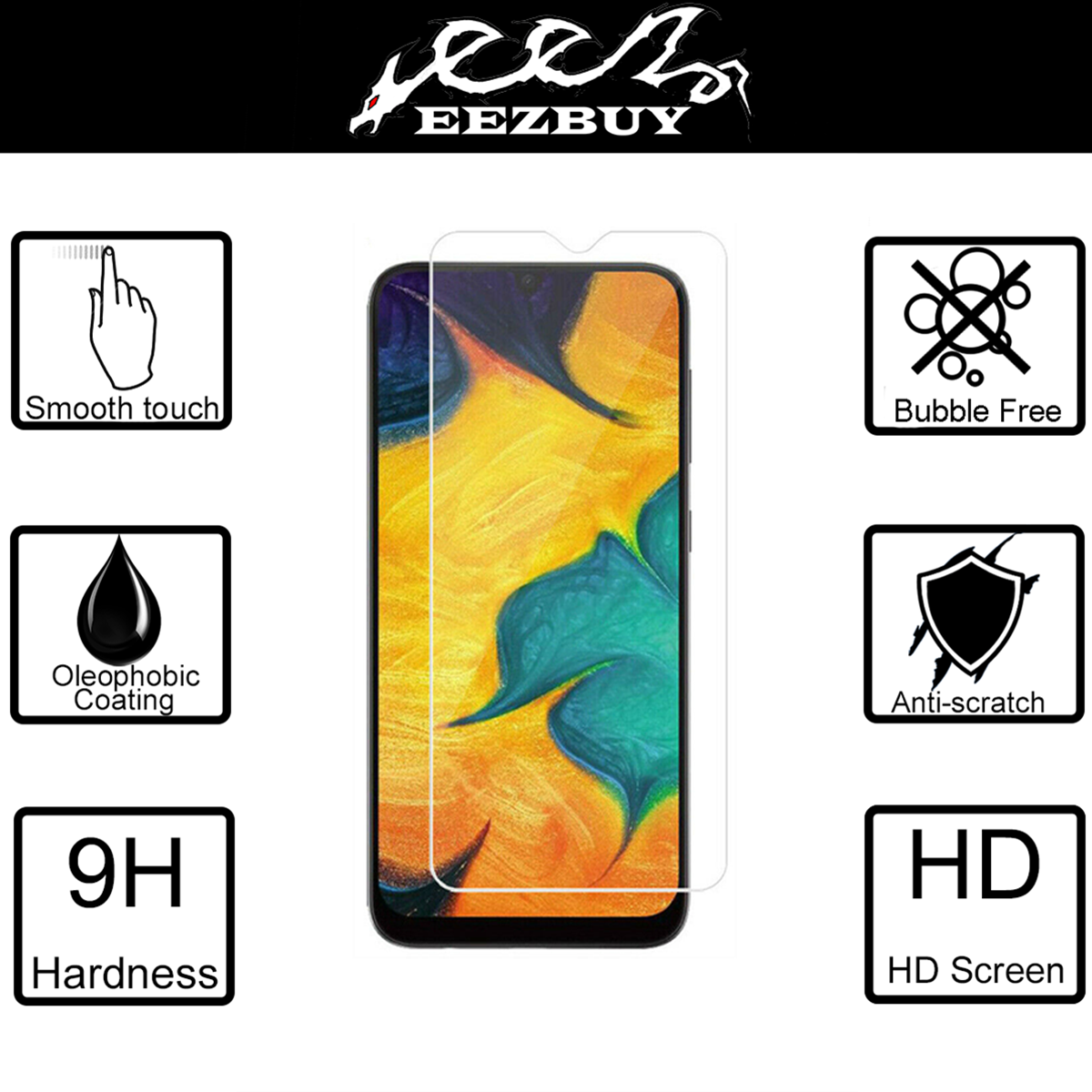 DESHENG Clear Screen Protector 50 PCS Non-Full Matte Frosted Tempered Glass Film for Galaxy A10 No Retail Package Glass Film M10