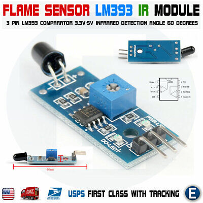 Flame Detection Sensor Ir Infrared Receiver Control Module For Arduino Lm393