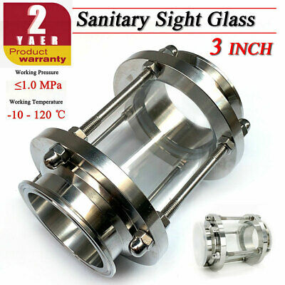 3 Inch Tri Clamp Sanitary Straight Sight Glass Ss304 In-line Sight Glass