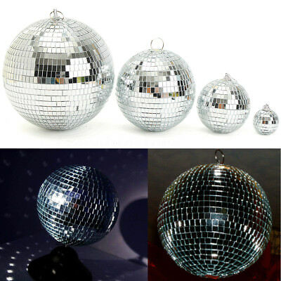 4-10cm Mirror Glass Ball Disco DJ Stage Lighting Effect Party Home Decor Xmas (Mirror Ball Light)