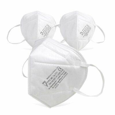 Fackelmann FFP2 Atemschutzmaske, CE zertifiziert, deutsche Herstellung - 3 Stück