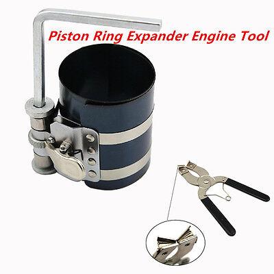 3'' Piston Ring Compressor Installer Ratchet Plier Remover Expander Engine Tool