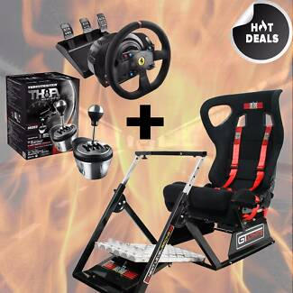 Gtultimate Sim+ Thrustmaster T300 Alcantara+ TH8A Shifter PS4 /PC