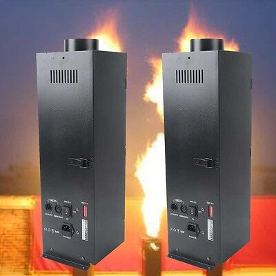 2Pcs 200W DMX Flame Thrower Effect Fire Spray Stage Machine Party Projector
