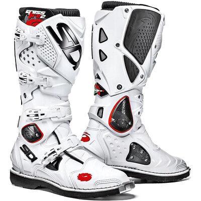 Sidi Crossfire 2 TA Dirt Off Road MX SxS Boots White Men's Size 9.5 US / 43 EU
