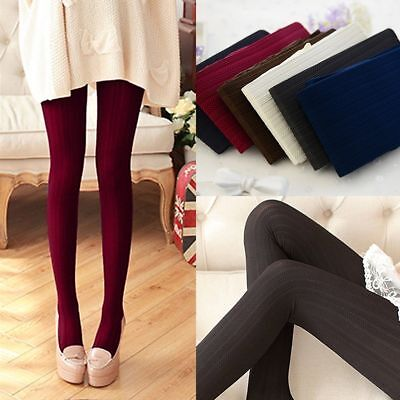 Cable Womens Tights - Women Winter Cable Knit Sweater Footed Tights Warm Stretch Stockings Pantyhose
