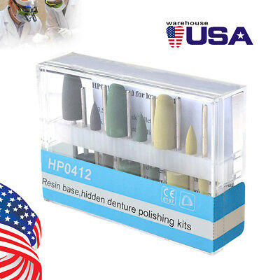 12pcskit Dental Hidden Resin Base Polishing Kit 12 Silicone Polisher Low Speed