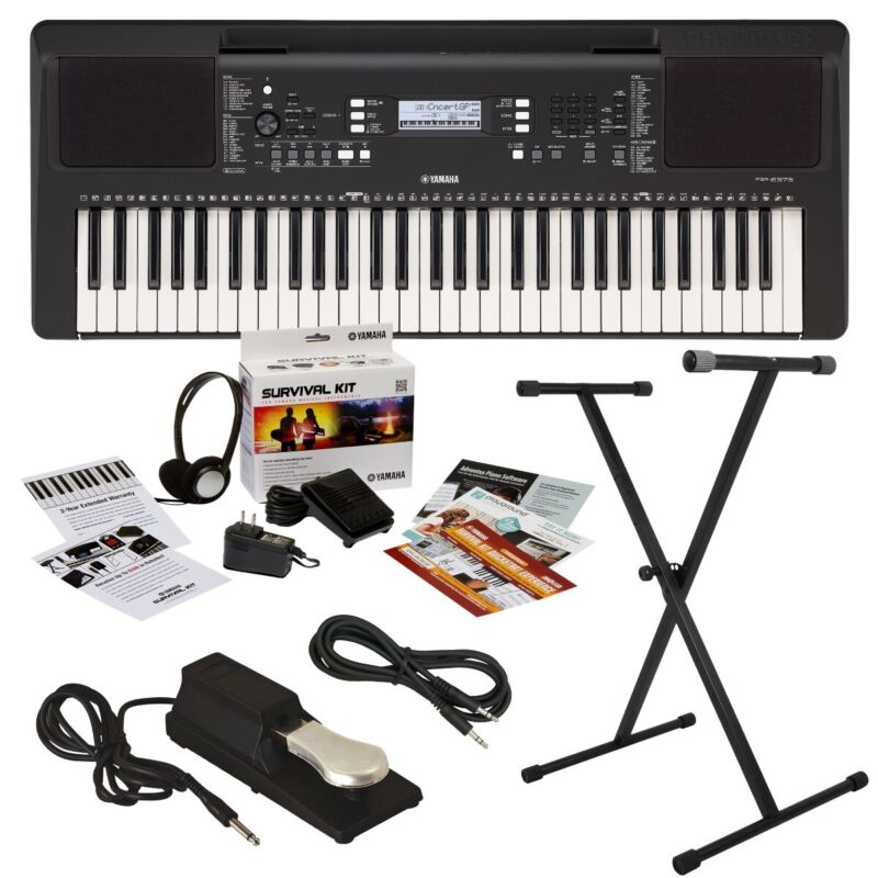 Yamaha PSR-E373 Portable Keyboard HOME ESSENTIALS BUNDLE