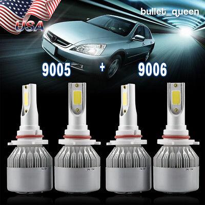 9005 9006 Combo LED Headlight Bulbs Kit High Low Beam for 1997-2007 Honda Accord ()