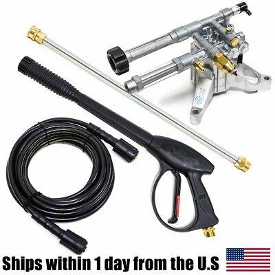 Ar Pump Rmw22g24-ez 2400 Psi Pressure Washer Pump Wand Hose Spray Gun Kit