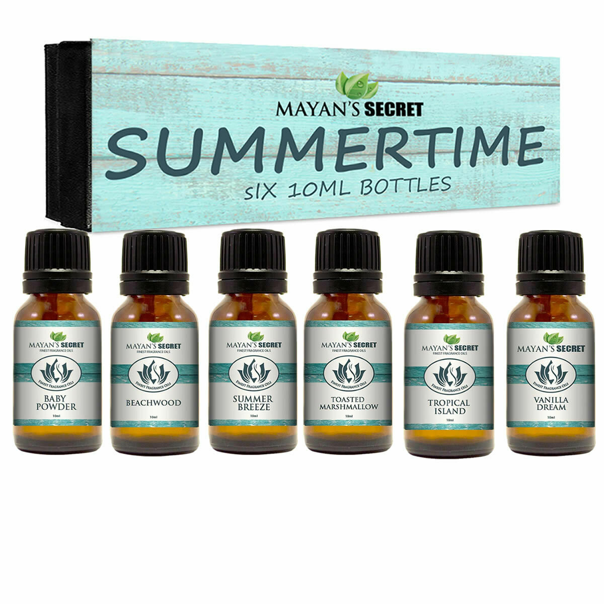 Premium Grade Fragrance Oil-Summer Time- Gift Set 6/10ml for Diffuser, Body oil, Candle Making & Soap Making