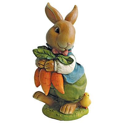 Bunny Rabbit Statue Garden Statuary Figurines Easter Decor Lawn Yard Ornament