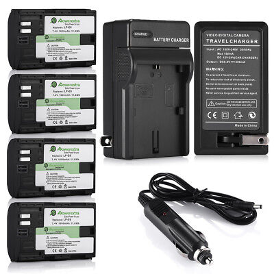 LP-E6 Battery for Canon EOS 6D 60D 7D 70D 5D Mark II III DSLR Camera or Charger ()