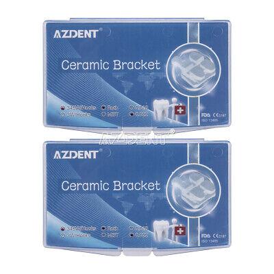 3m Style Dental Orthodontic Ceramic Brackets Rothmbt.022 Hooks 3-4-5 Marked