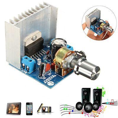 AC/DC 12V TDA7297 2x15W Digital Audio Amplifier DIY Kit Dual-Channel Module 2-7k