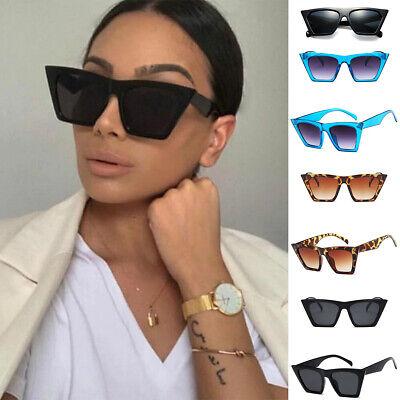 Cat Eye Oversized Square Women Sunglasses Designer Retro Vintage Eyeware
