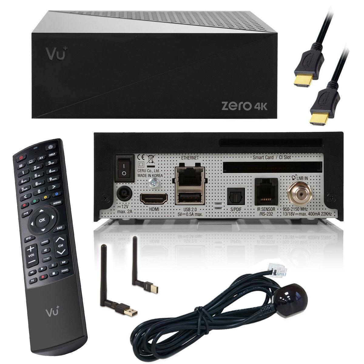 VU+ Zero 4K Sat-Receiver DVB-S2X Multistream Zero4K + Wifi Stick USB WLAN HDMI