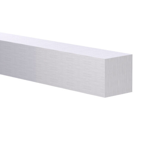"3/8"" x 3/8"" 6063 SQUARE ALUMINUM FLAT BAR 8 Foot Mill Finish"