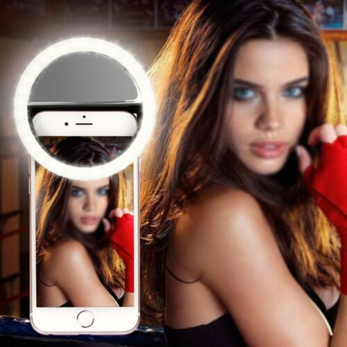 Universal Portable Selfie Clip Fill Light LED Ring Flash Lighting For Phones