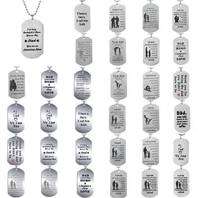 Family Dad Son Mom Daughter Necklace Pendant Jewelry Stainle