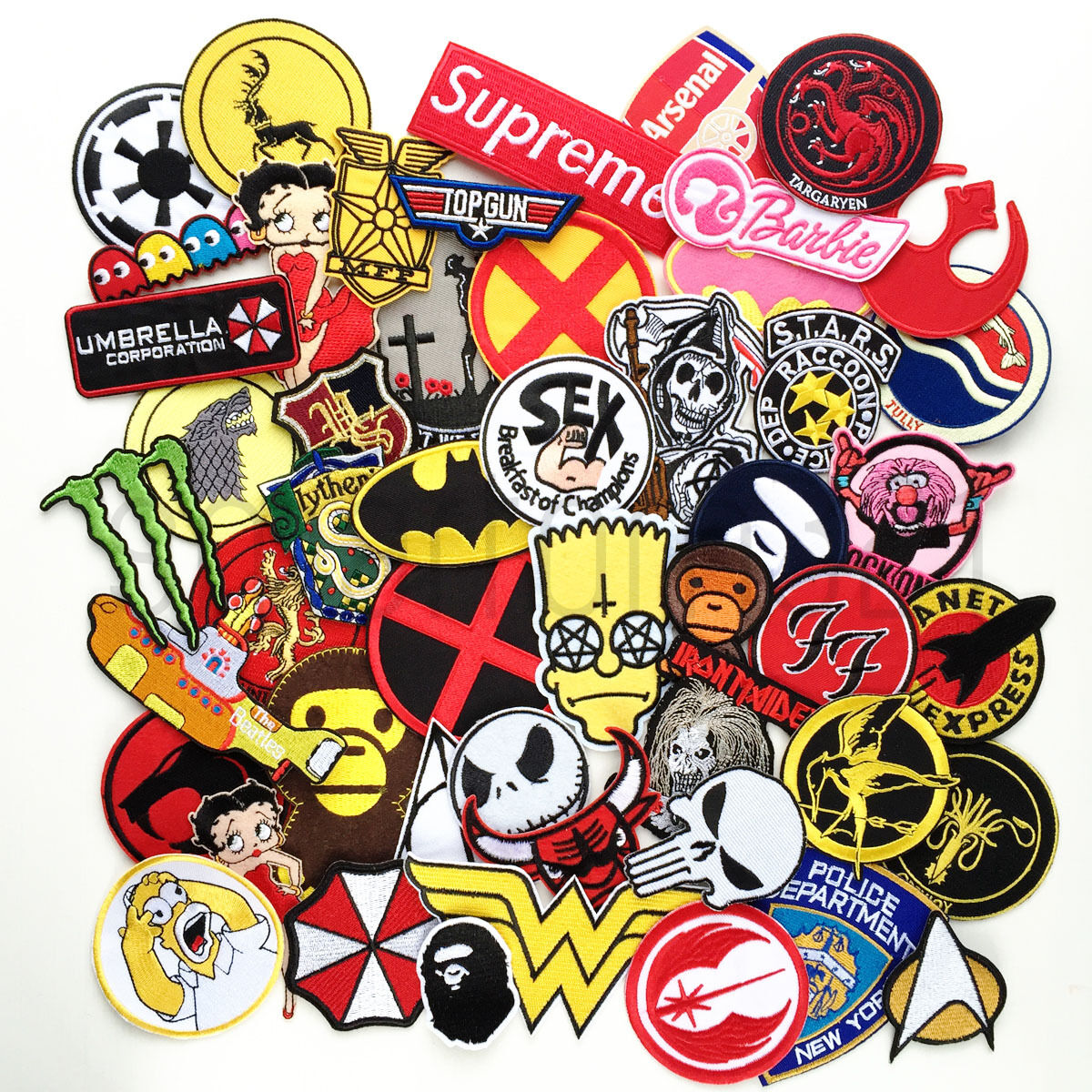 VARIOUS POP CULTURE PATCHES HALLOWEEN Iron Sew On Patch Badge FANCY DRESS #D