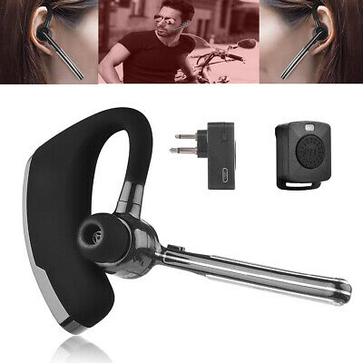 Walkie Talkie Wireless Bluetooth Headset M Plug Earpiece   PTT For Motorola