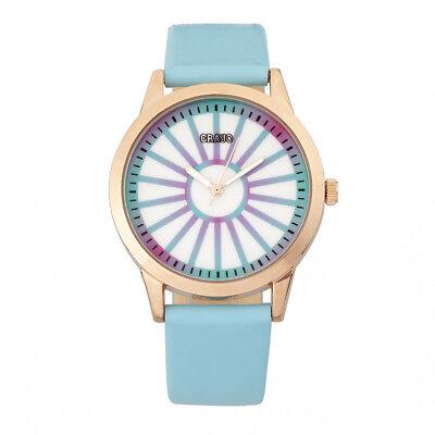 Crayo Eléctrico Mujer Azul Claro Reloj Correa Cuarzo CR5002