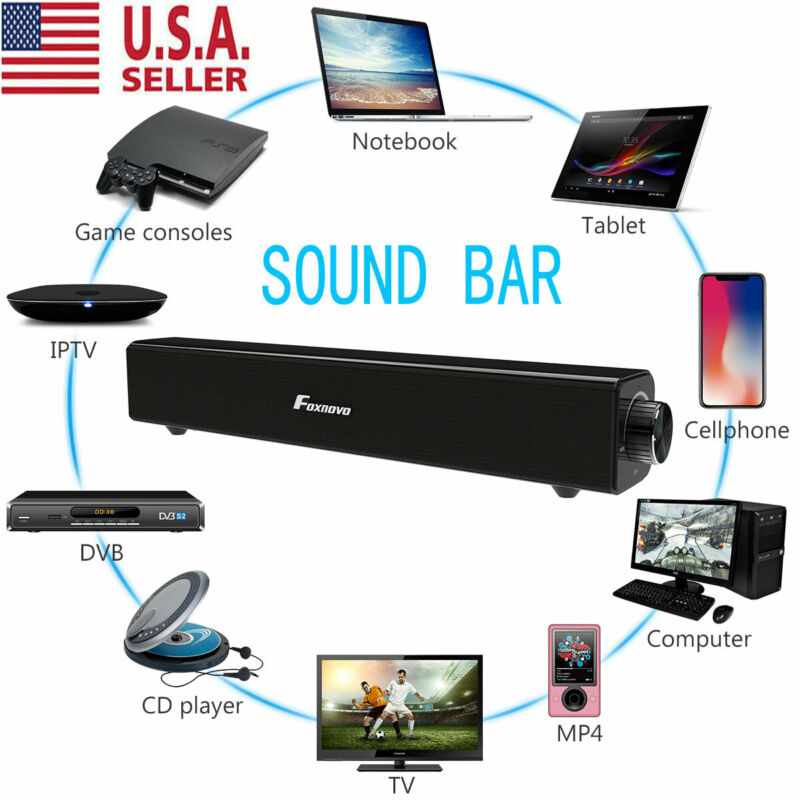 Sound Bar TV Soundbar Wired & Wireless Bluetooth Home Theate
