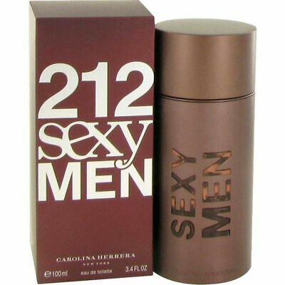 212 SEXY MEN for Men by Carolina Cologne EDT 3.3 / 3.4 oz NEW IN BOX