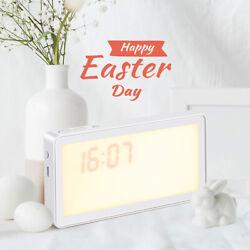 1* Digital LED Wake-Up Night Light Touch Sensor Bedside Lamp Sunrise Alarm Clock