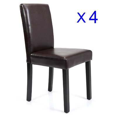 Dining Room Chairs Kitchen Formal Elegant Leather Design 4 Set (New Dining Room)