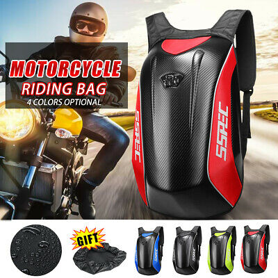 SSPEC Carbon Fiber Motorcycle Backpack Racing Riding Hard Shell Bag Waterproof