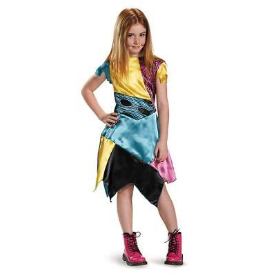 Licensed The Nightmare Before Christmas Sally Classic Child Girl Costume - SM (Kids Nightmare Before Christmas Costumes)