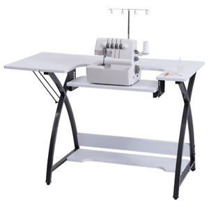 Folding sewing table ebay for Fold up craft table