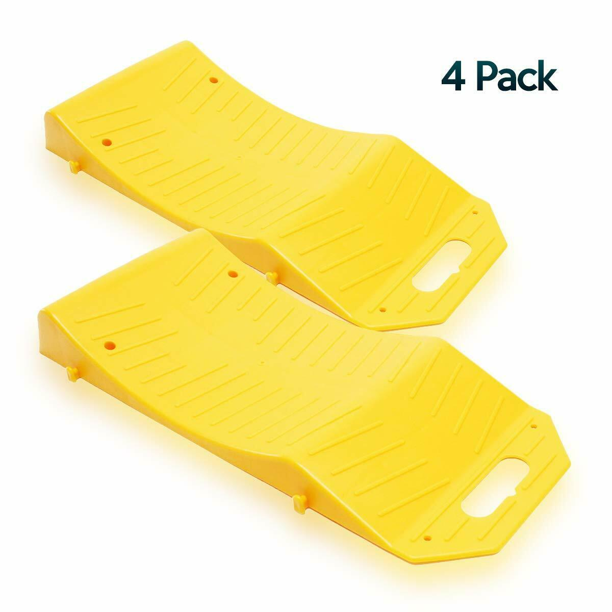 Zone Tech 4x Tire Saver Travel Ramps Highly Visible for Flat Spot and Flat Tire