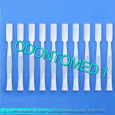 12 Osteotome Bone Chisels 14mm Surgical Orthopedic Instruments 25-141-145